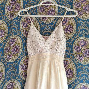 Gauzy White Strappy Boho Lace Dress